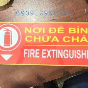 bảng nơi để bình chữa cháy